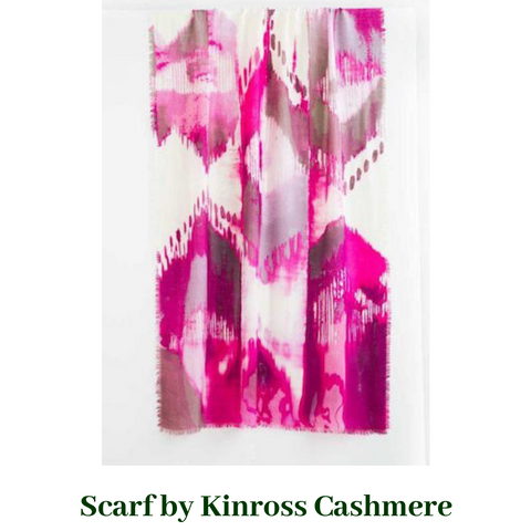 SCARF SPRING IKAT SCARF by Kinross Cashmere