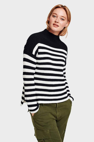 Cotton Rib Mockneck by White + Warren