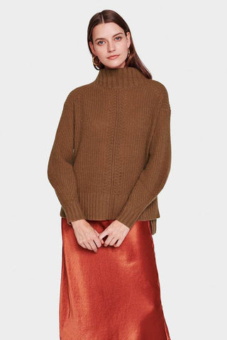 Recycled Cashmere Rib Turtleneck by Luisa Cerano