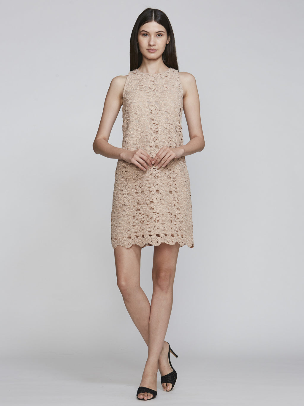 Carmen Marc Valvo Lace Sheath Jophiel