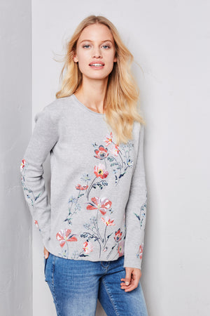 Gerry Weber Floral Embroidered Sweater At Jophiel