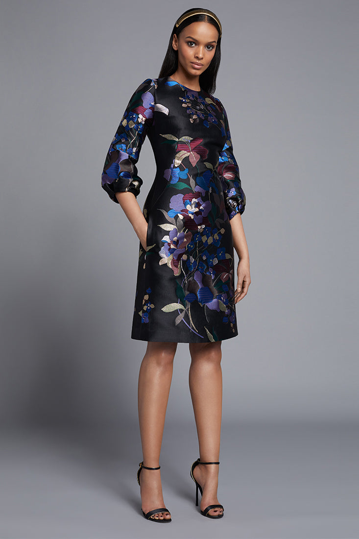 Floral Print Shift Dress by Frascara at Jophiel