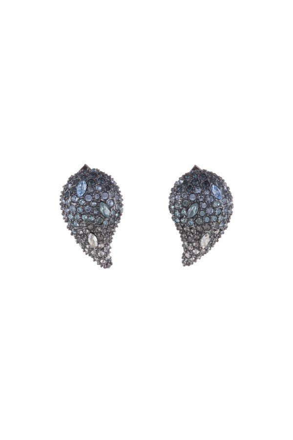 Crystal Encrusted Ombre Paisley Post Earring by Alexis Bittar at Jophiel
