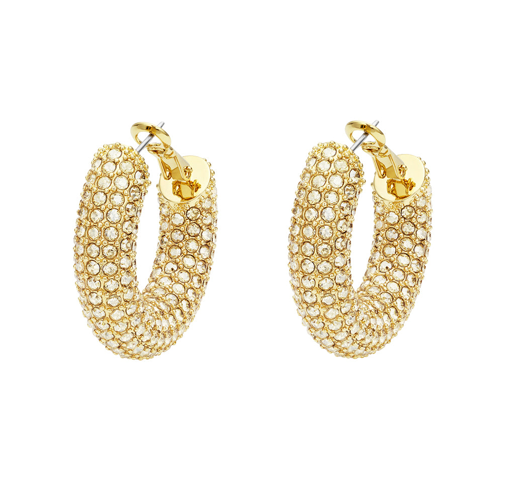 Atelier Swarovski by Christopher Kane Bolster Hoop Earrings At Jophiel
