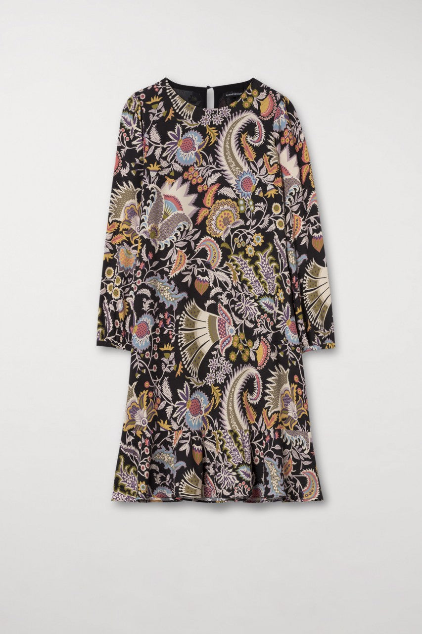 Floral Print Shift Dress by Luisa Cerano at Jophiel
