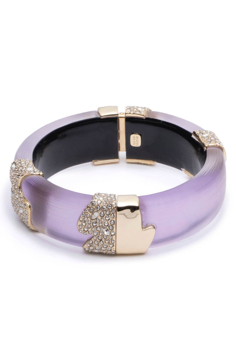 Crystal Encrusted Sectioned Hinge Bracelet by Alexis Bittar at Jophiel