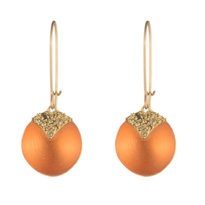 Origami Inlay Dangling Sphere Earring by Alex Bittar at Jophiel