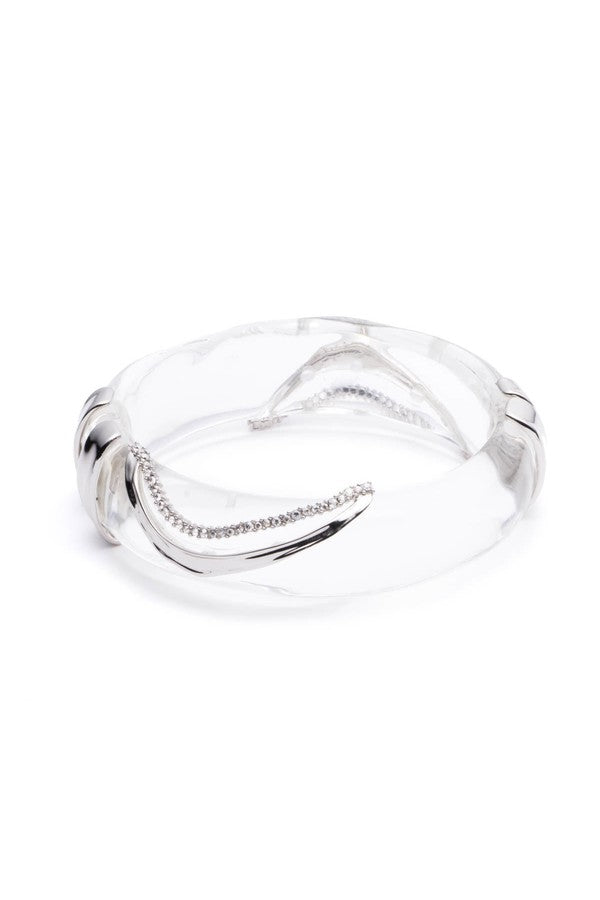 Crystal Wave Hinge Bracelet by Alexis Bittar at Jophiel