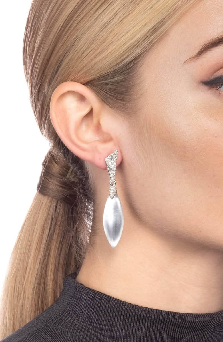Crystal Encrusted Dangling Post Earring by Alexis Bittar at Jophiel