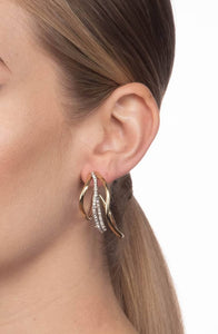 Orbit Wavy Hoop Earring by Alexis Bittar at Jophiel