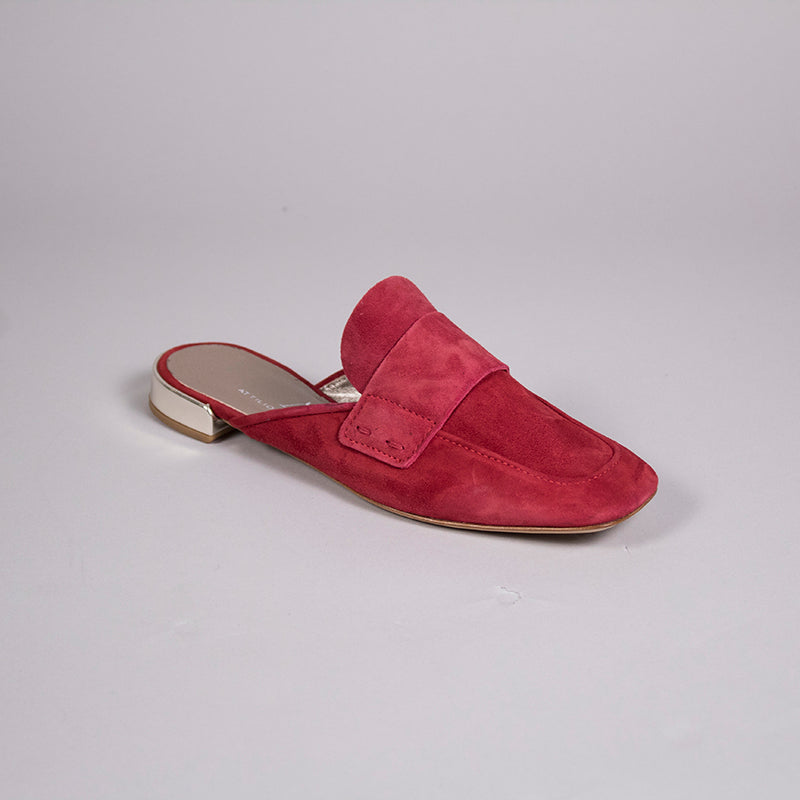 Red Suede Mule by AGL at Jophiel