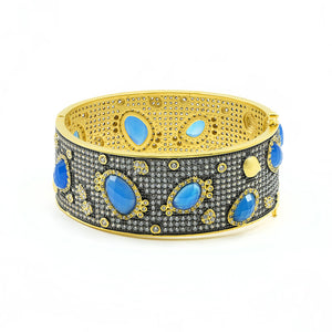 BAROQUE BLUES BANGLE