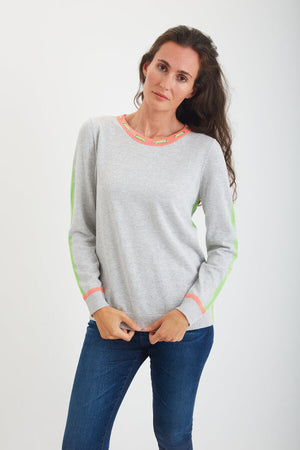 Laced Collar Pullover Sweater by Belford at Jophiel