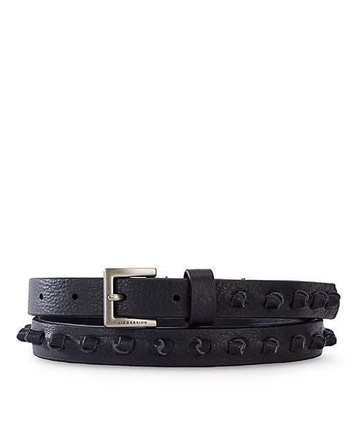Asmara Leather Belt by Liebeskind in Black at Jophiel