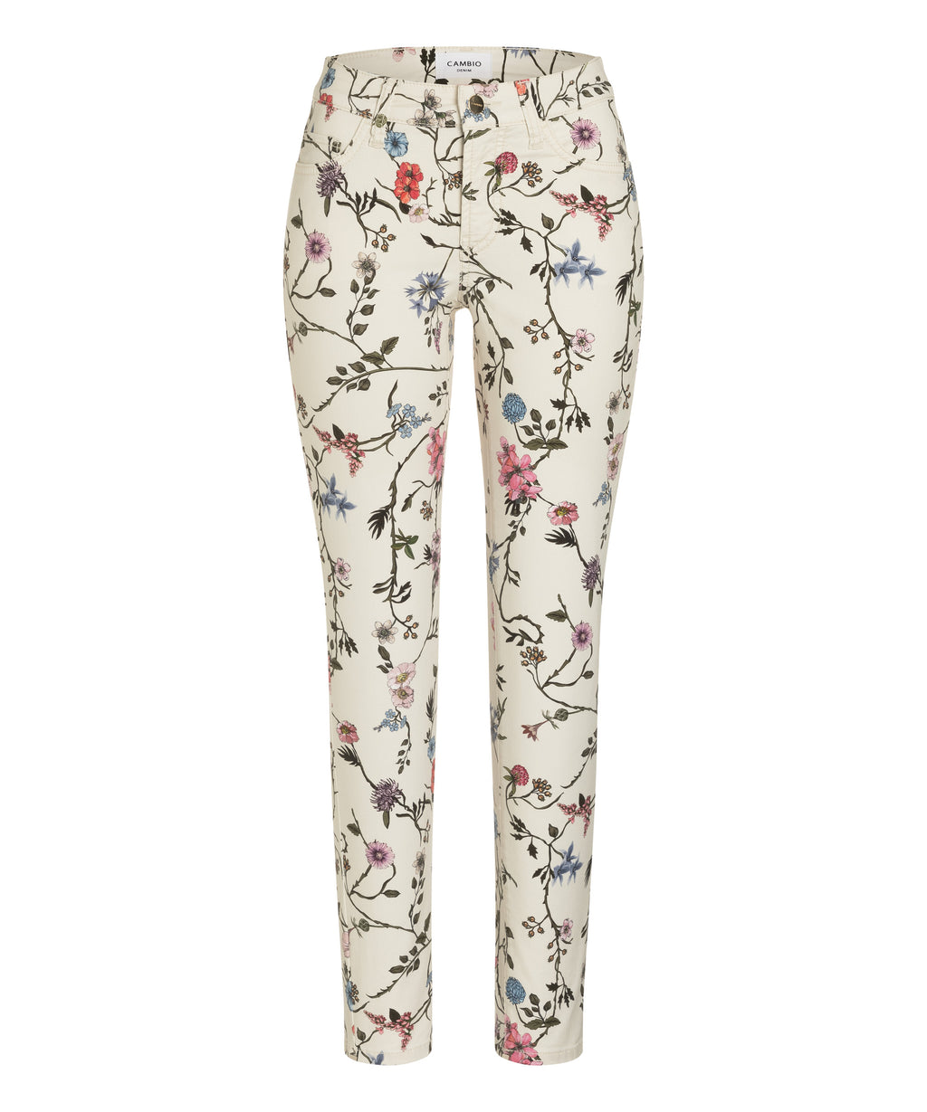 PARIS FLORAL CROP JEAN