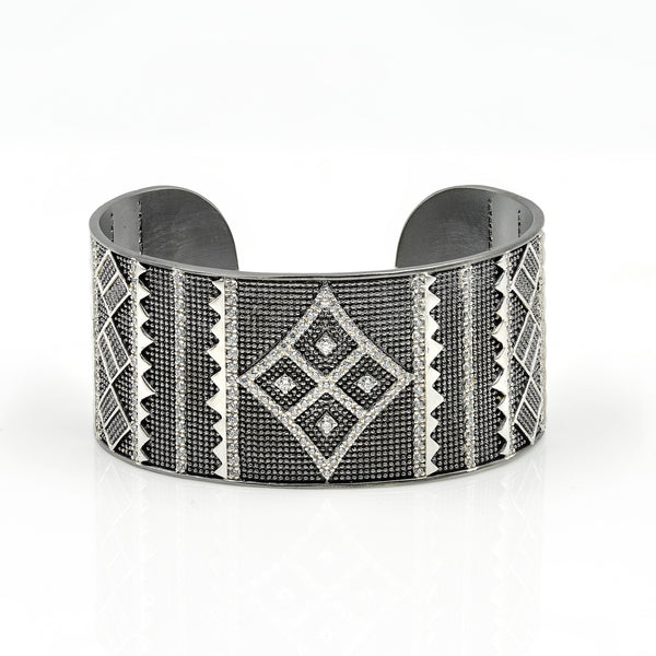 Freida Rothman Contemporary Deco Cuff Bangle Jophiel