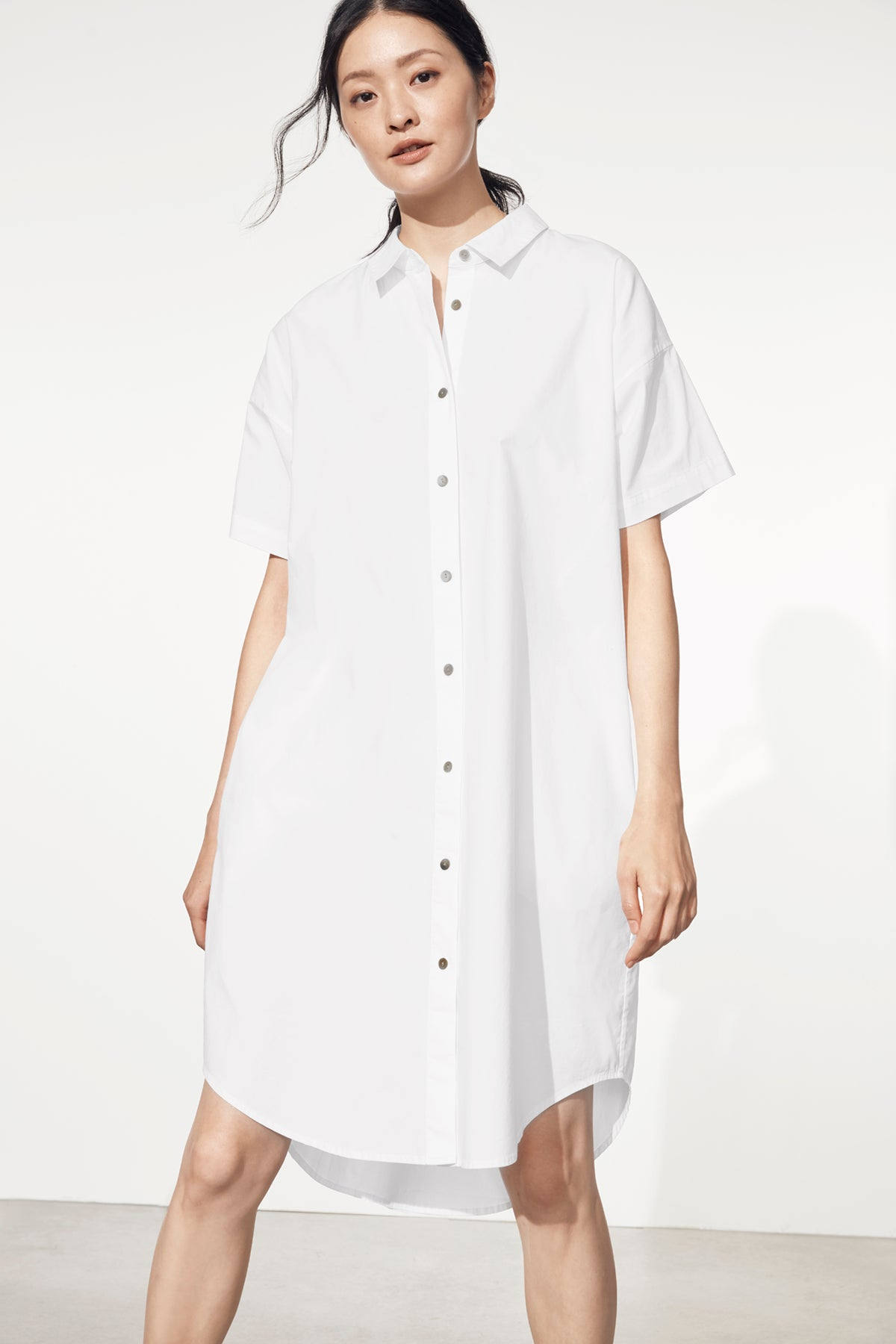 ORGANIC COTTON POPLIN SHIRTDRESS