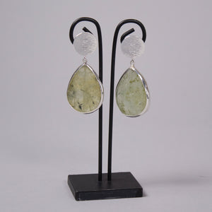 Flaca Jewelry Circular Top Rutilated Quartz Earring At Jophiel