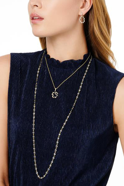 Midnight Pave Roped Pendant Necklace by Freida Rothman at Jophiel