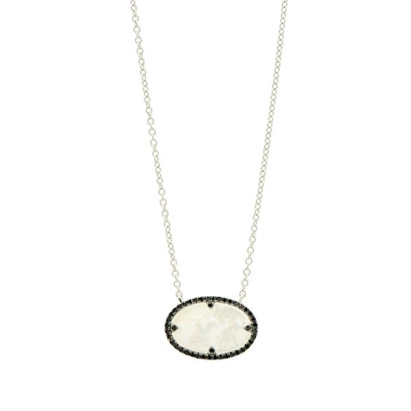 Industrial Finish Oval Pendant Necklace by Freida Rothman at Jophiel
