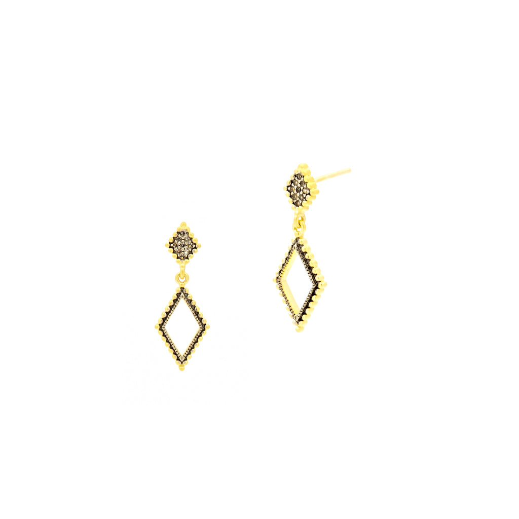 Freida Rothman Small Diamond Drop Earrings Jophiel