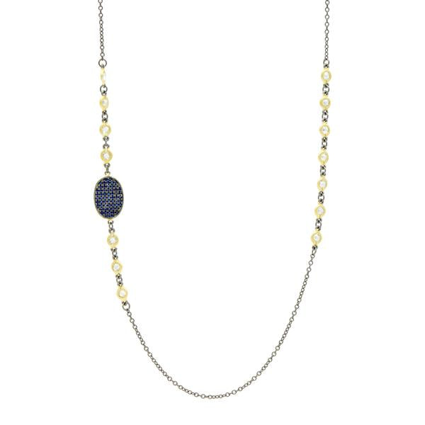 "Midnight 36"" Station Necklace by Freida Rothman at Jophiel"