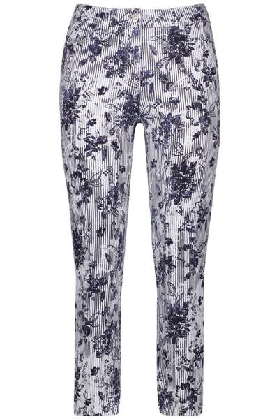 Floral Striped Jeans by Gerry Weber at Jophiel