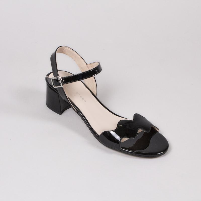 Gina Block Heel Sandal by Patrica Green at Jophiel