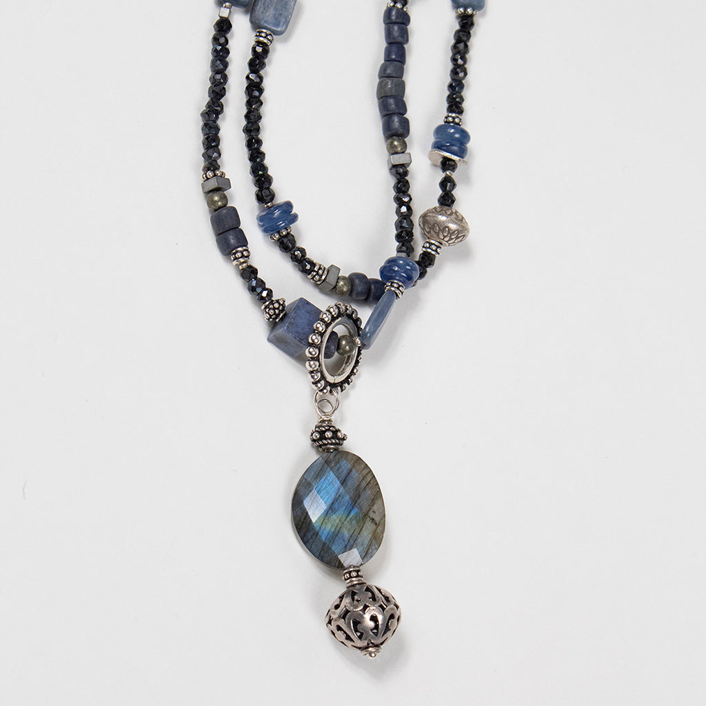 Labradorite Pendant Necklace by Jill Duzan at Jophiel