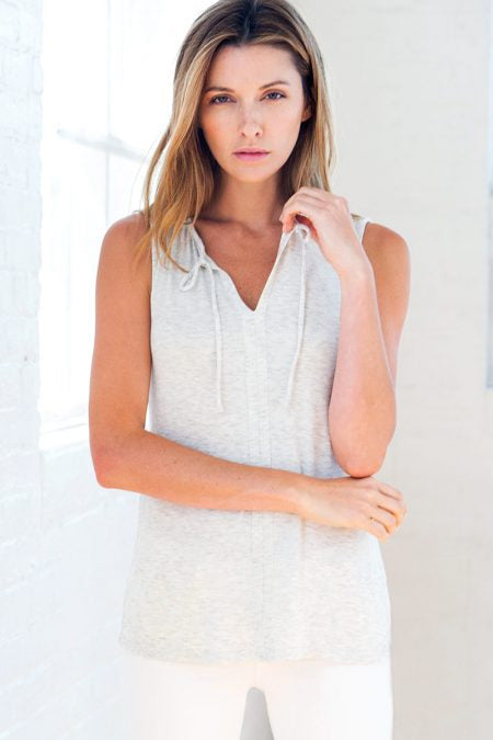 Drawstring Neck Tank by Kinross Cashmere At Jophiel