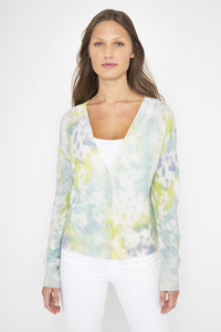 Kinross Splash Print Cardigan at Jophiel