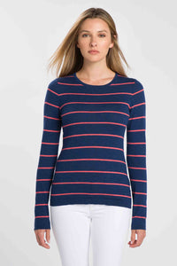 Worsted Stripe Crew by Kinross Cashmere at Jophiel