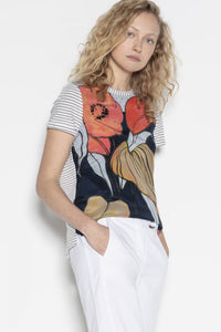 Floral Print Tee by Luisa Cerano at Jophiel