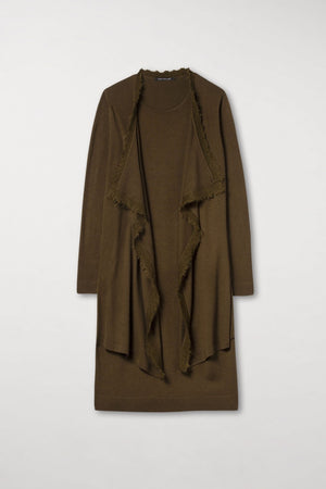 Coatdress with Fringes by Luisa Cerano at Jophiel
