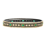 Freida Rothman Midnight Emerald 3-stack Bangles at Jophiel
