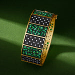Freida Rothman Midnight Emerald Statement Bangle at Jophiel