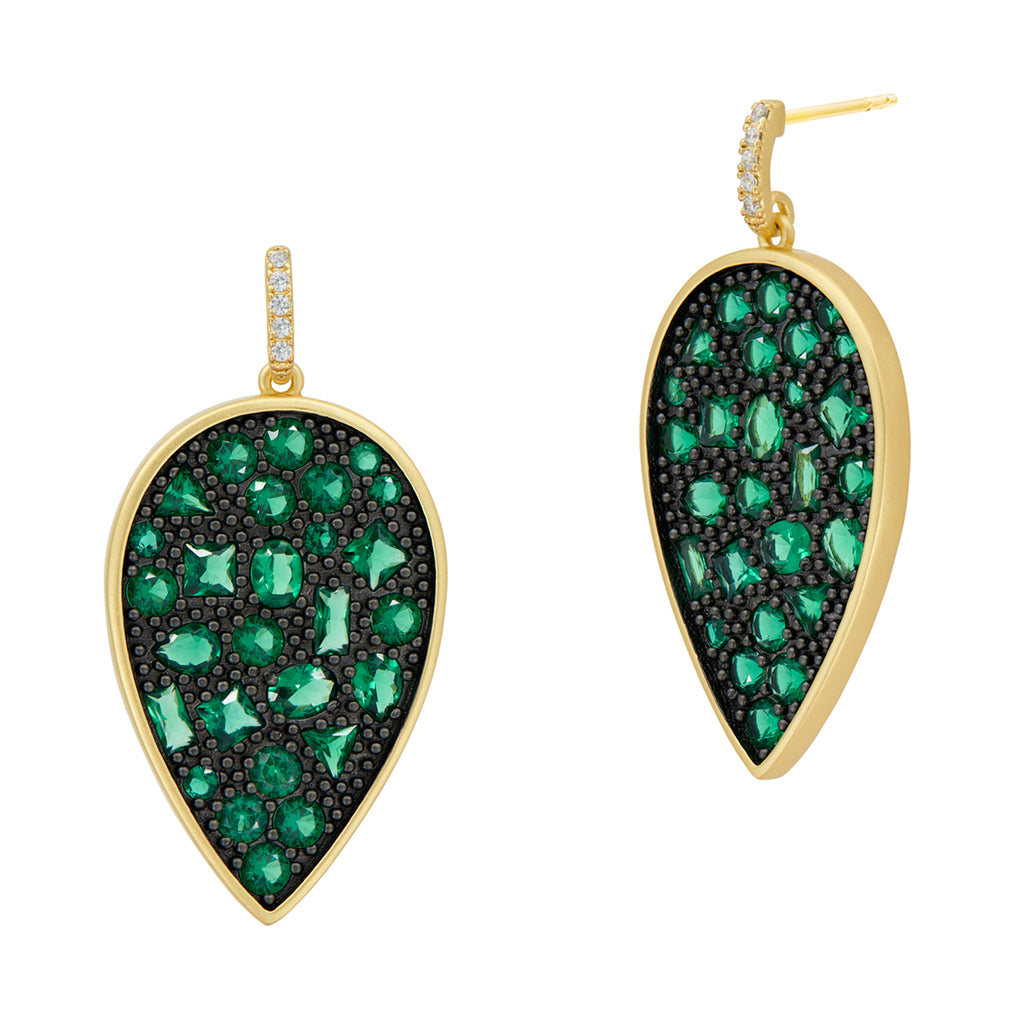 Freida Rothman Midnight Teardrop Earrings at Jophiel