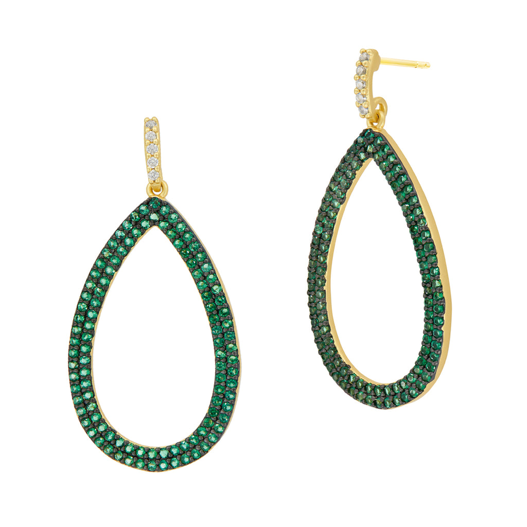 Freida Rothman Midnight Pave Teardrop Earrings at Jophiel