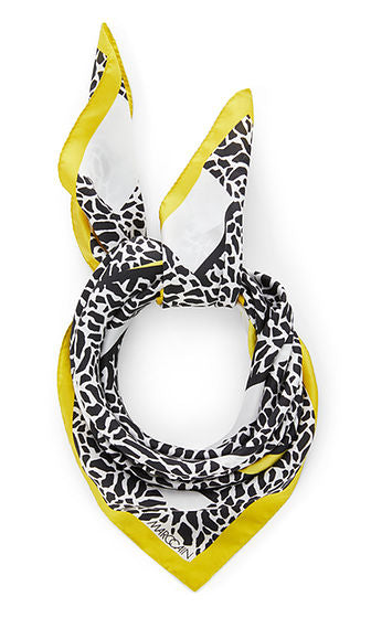 SILK SCARF WITH LEOPARD GRAPHIC