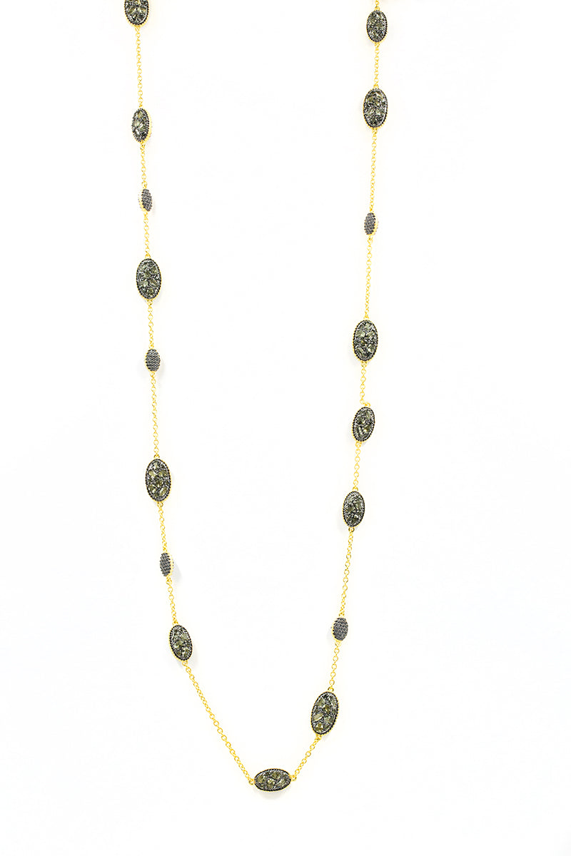 Freida Rothman Rose D'or Station Necklace Jophiel