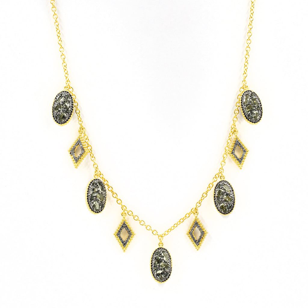 Freida Rothman Rose D'or Droplet Necklace Jophiel