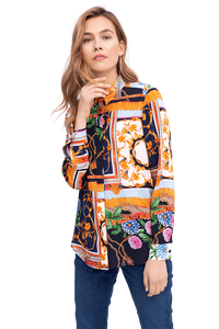 Blouse With All Over Print by Riani at Jophiel