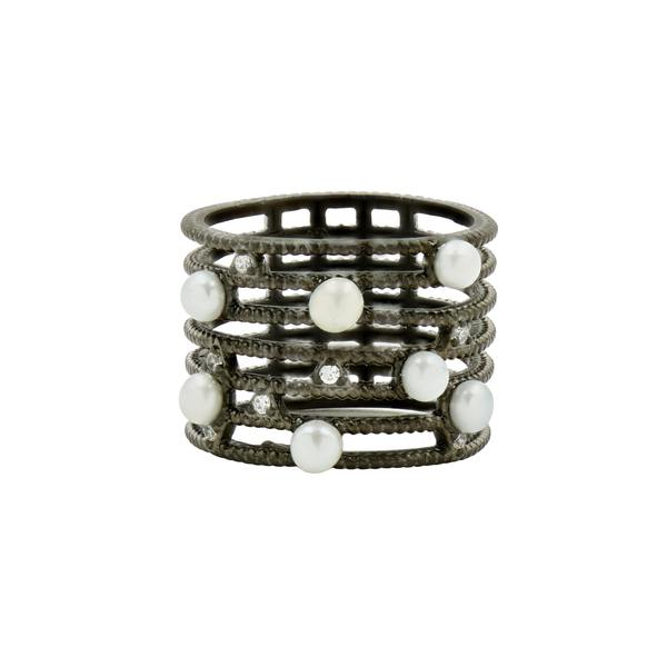 Industrial Finish Cage Ring by Feida Rothman