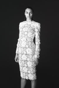 Lace Sheath Cocktail Dress by Wayne Clark at Jophiel