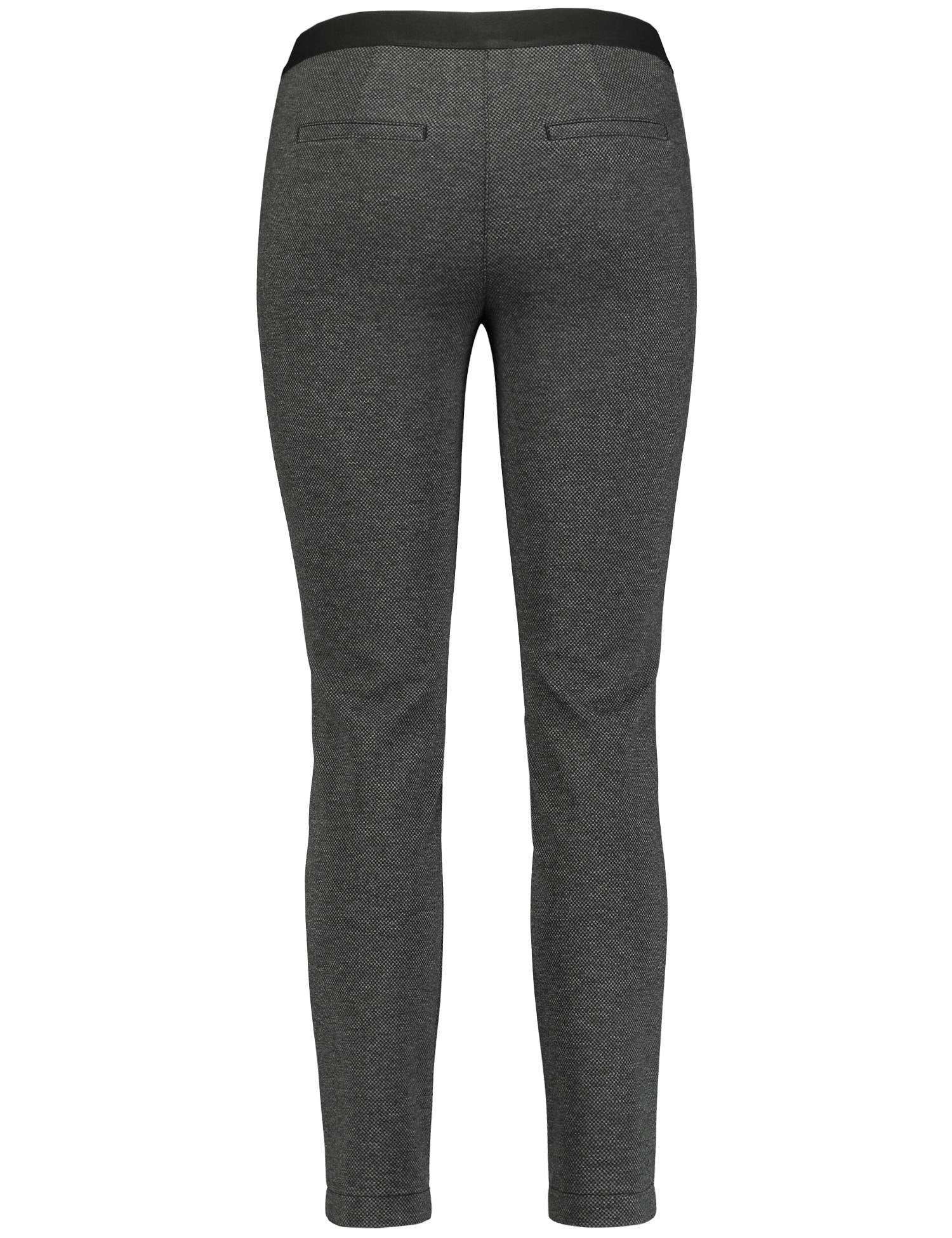 Two-Tone Texture Trousers by Gerry Weber at Jophiel