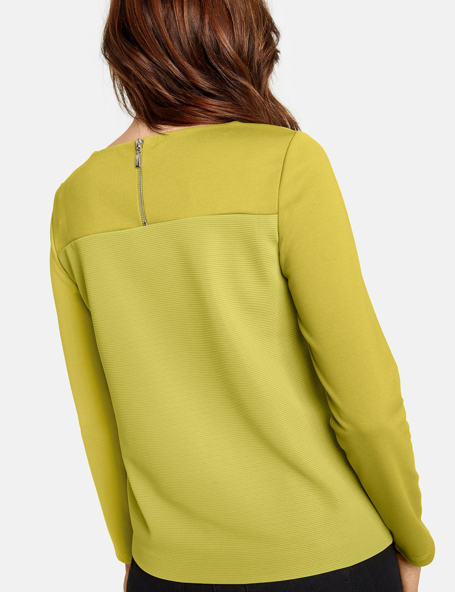 Long Sleeve Top with Textured Details by Gerry Weber at Jophiel