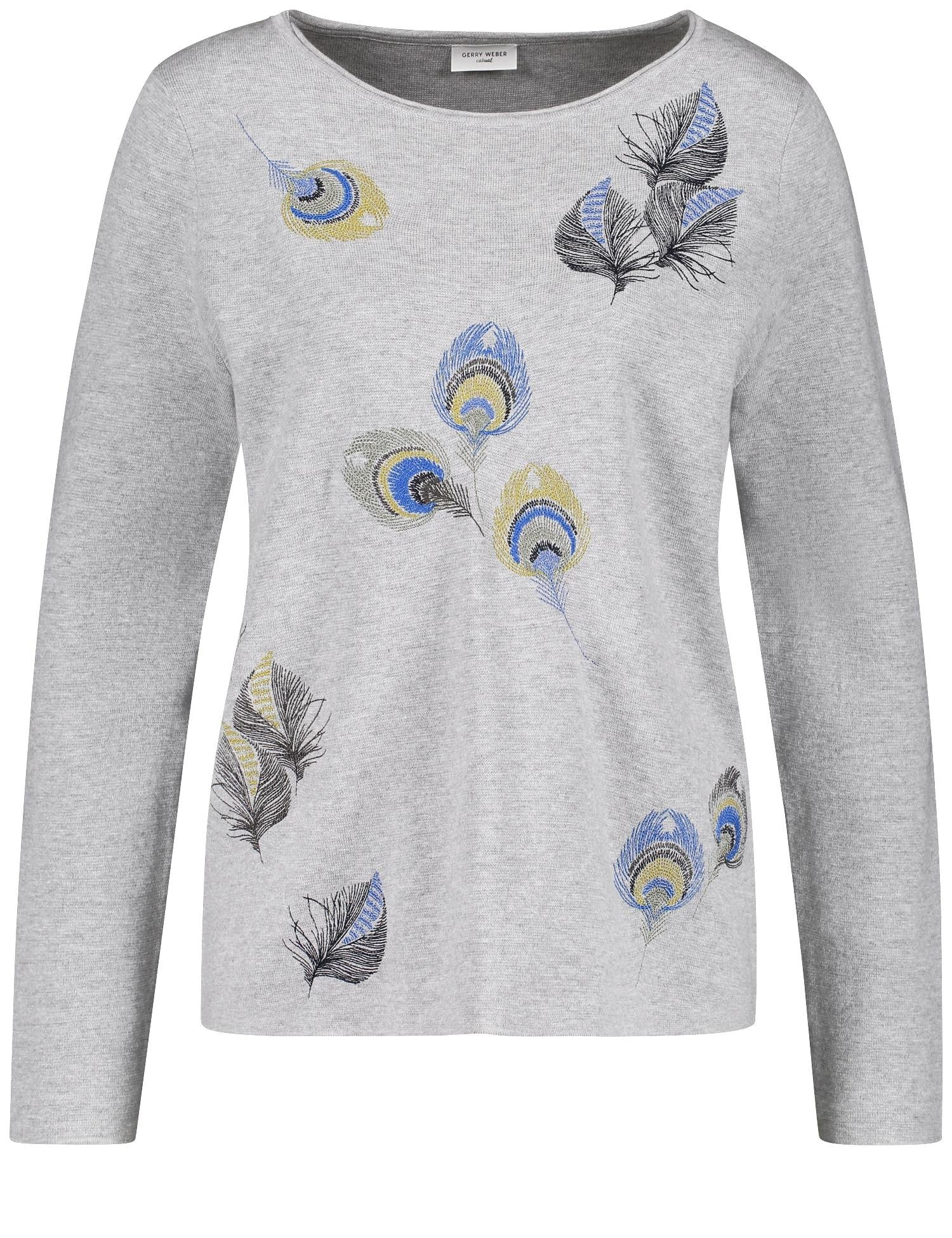 Embroidered Peacock Sweater by Gerry Weber at Jophiel