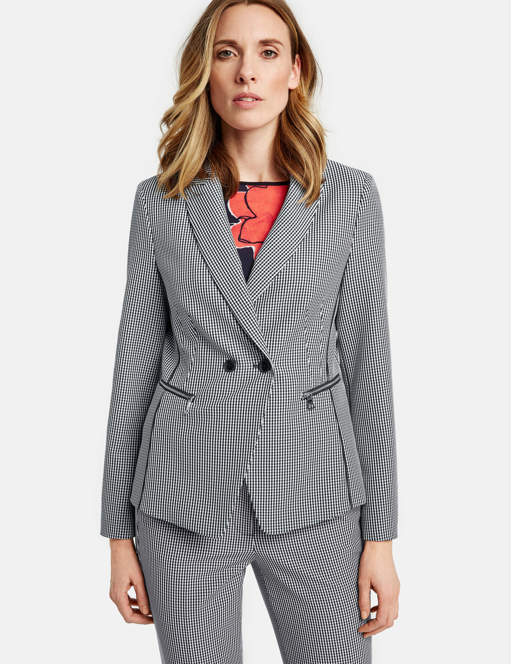 Gerry Weber Gingham Check Blazer at Jophiel