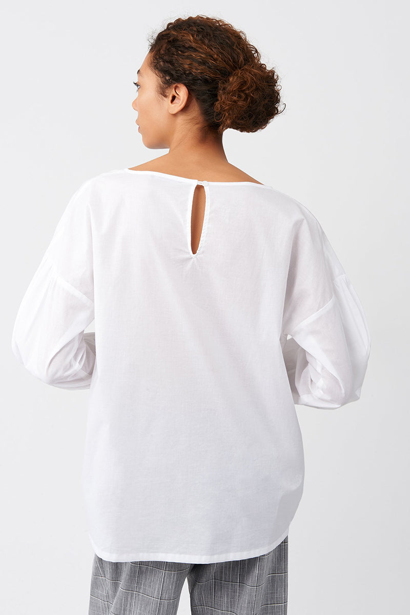 Voile Shirred Sleeve Top by Kal Rieman at Jophiel