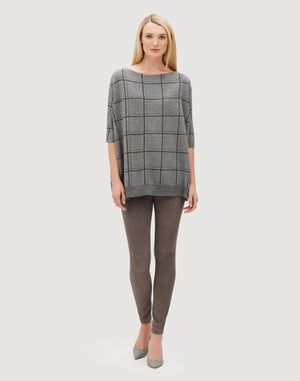 Fine Gauge Merino Embellished Oversized Jacquard Sweater by Lafayette 148 at Jophiel